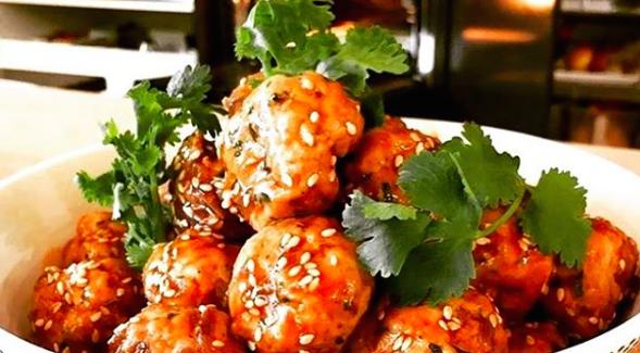 Hoisin Glazed Pork Meatballs